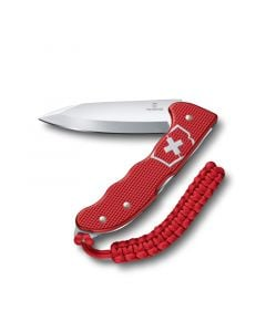 Victorinox Hunter Pro Alox Red w/Clip and Paracord Lanyard 130mm